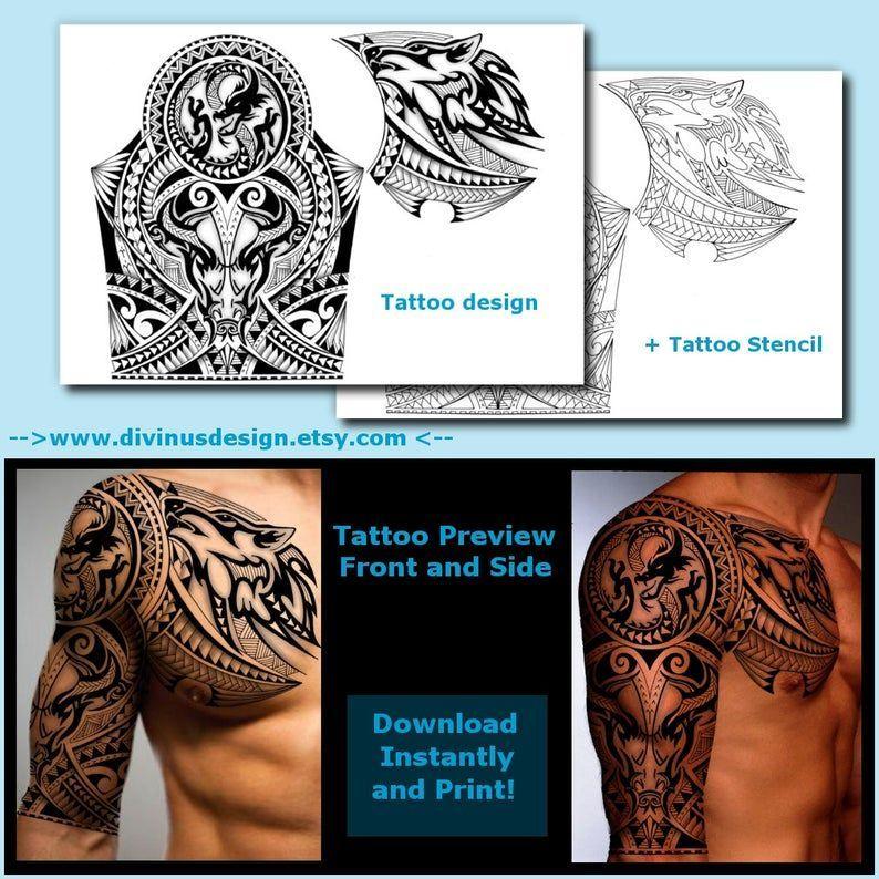 Hummingbird Maori Polynesian Tribal Half Sleeve Tattoo Design Designer Andrija Protic Tribal Tattoos Tribal Sleeve Tattoos Sleeve Tattoos