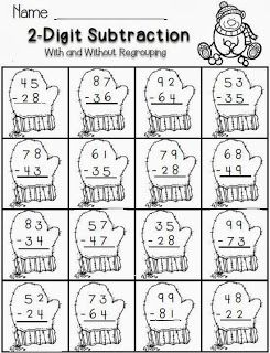 Winter Math with 2-digit subtraction | Christmas ideas 16 ...
