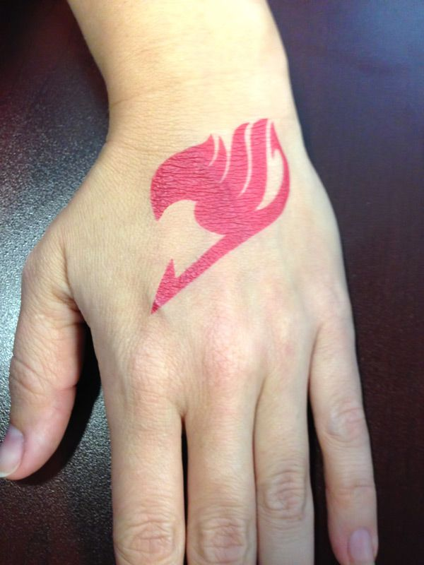dadb97823 Fairy Tail guild tattoo for Otakon! Made at home with printable tattoo  paper (see link). The directions tell you to use some custom machine to cut  out the ...