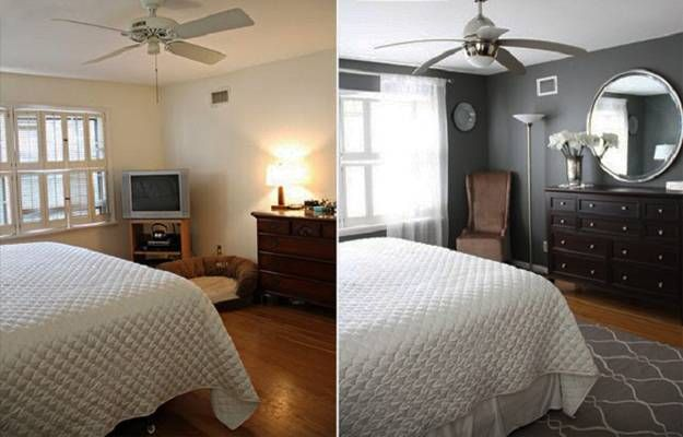 Small Repairs And Room Makeovers For Home Staging Before And After Interior Redesign Room