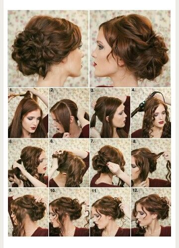 How To Make A Funcy Hairstyle Diy Hairstyles Curly Hair Styles Fancy Hairstyles