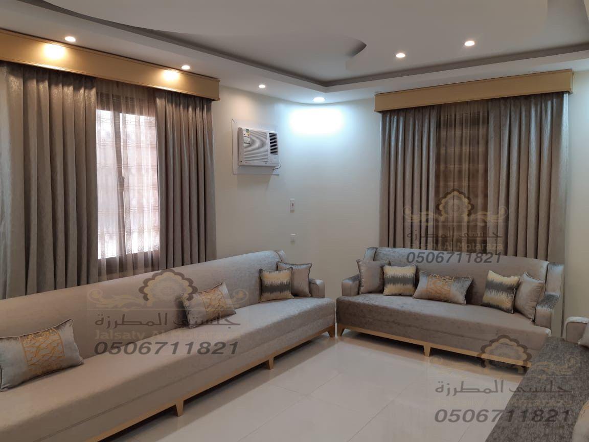 كنب طويل من تصميم وتنفيذ جلستي المطرزة جوال التواصل 0506711821 Home Decor Home Sectional Couch