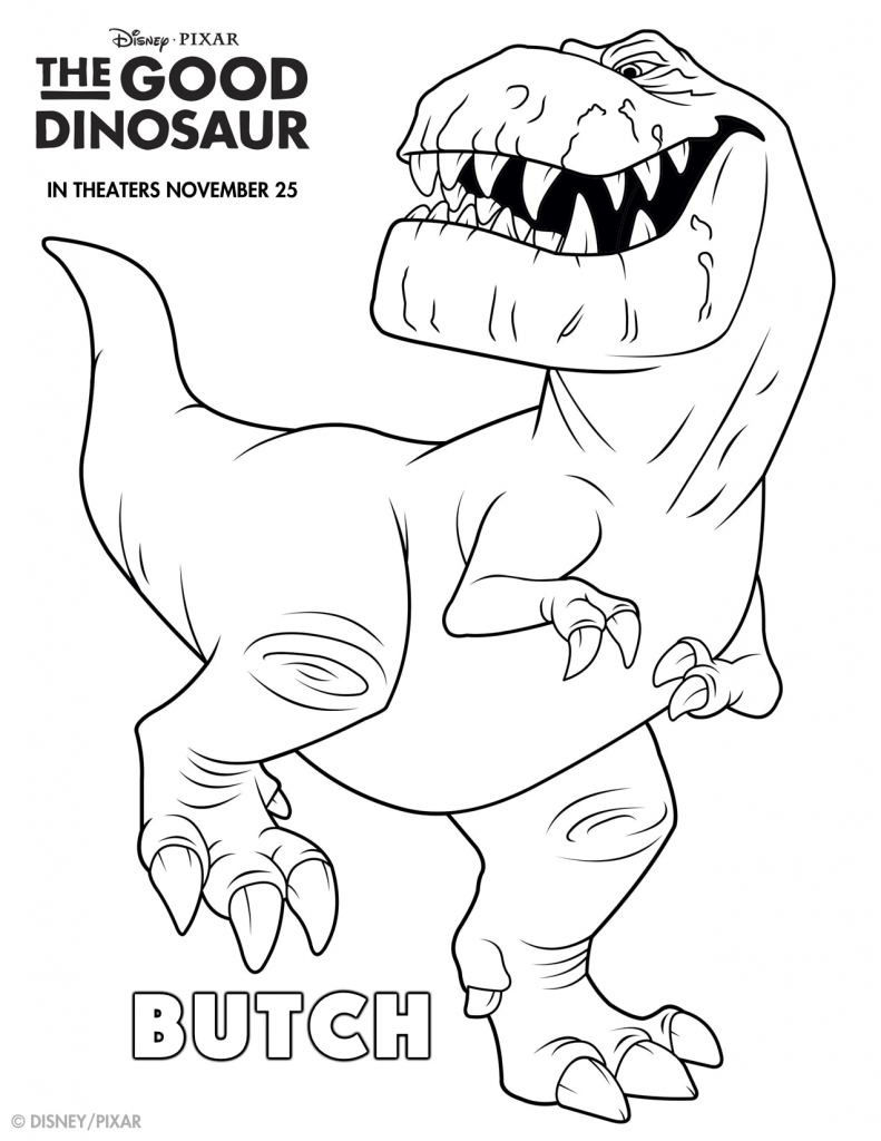 The Good Dinosaur Coloring Pages Butch