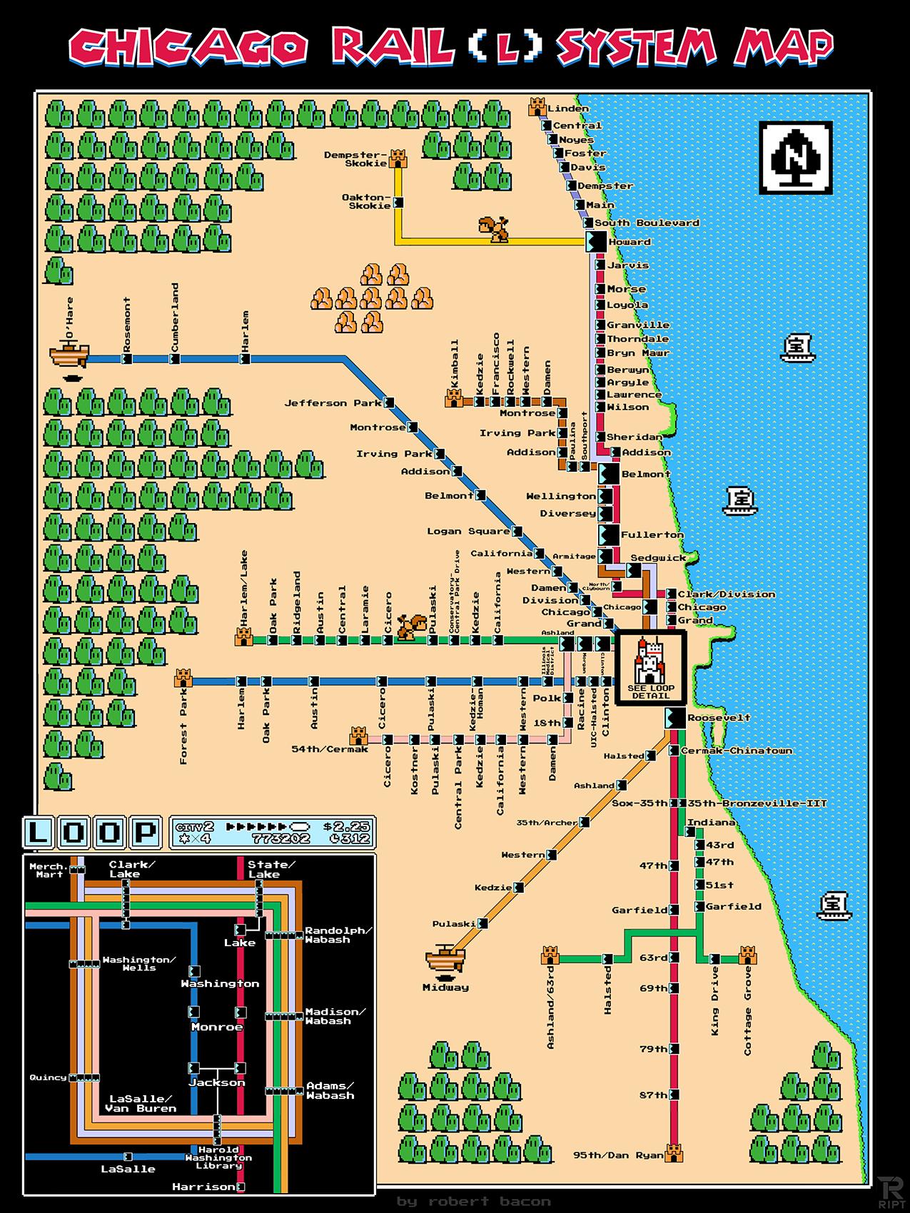 Pixel Art Super Mario Bros 3 L Map Chicago Map Train Map Super Mario Bros