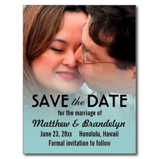 Modern Deco Photo Save the Date Postcards