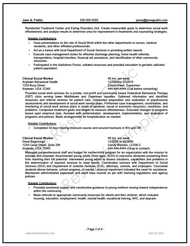 federal social worker resume writer sample  with images