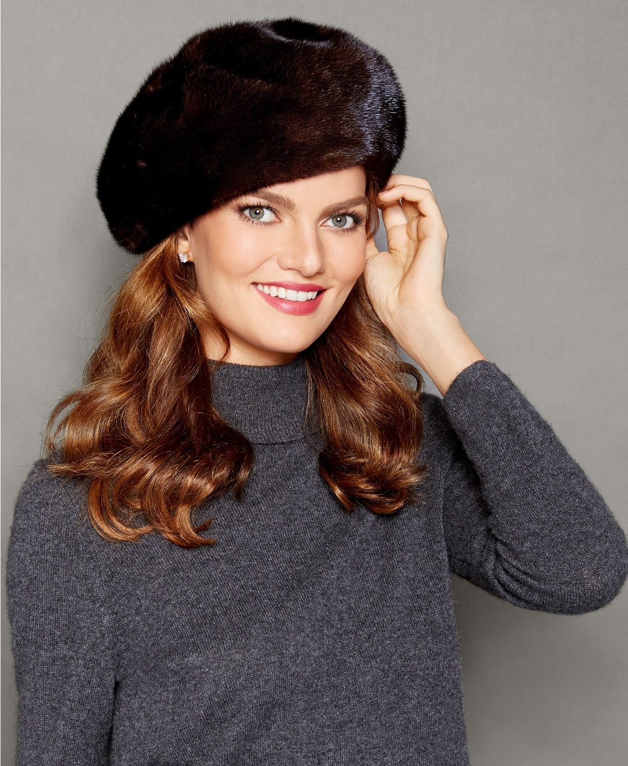 03ae097d5b830 Sport a mink fur beret from The Fur Vault for the ultimate in cozy