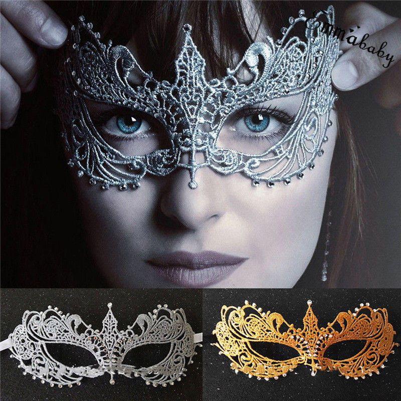Black lace mask masquerade eye face eyemask women party