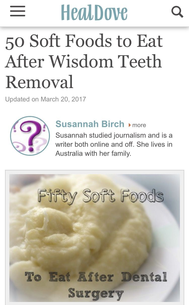 #softfoodsaftersurgeryteeth