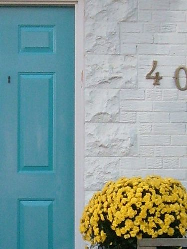 blue door yellow flowers by rosanne maccormick-keen, via Flickr