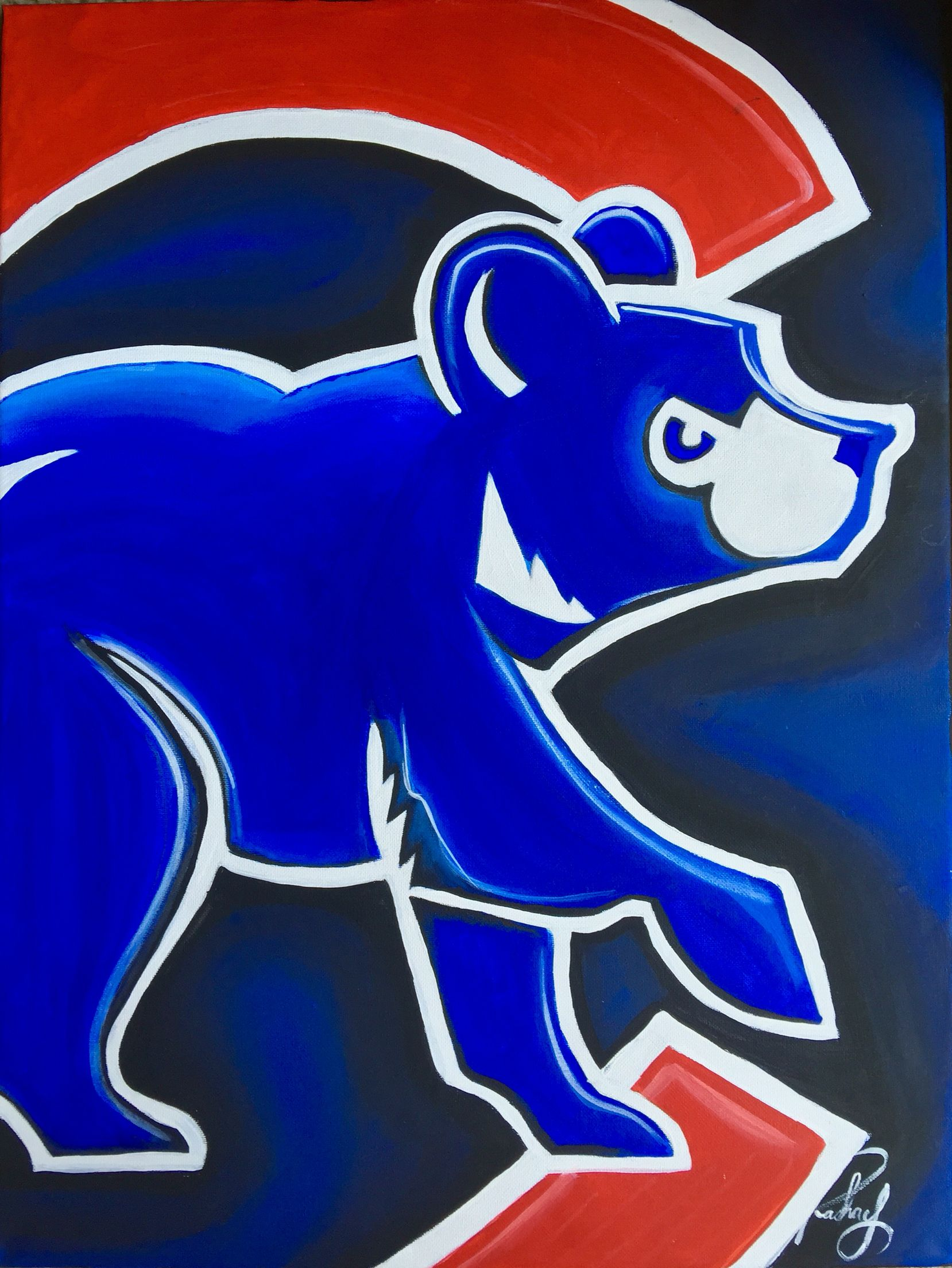 Chicago Cubs Painting canvas print | My paintings | Pinterest
