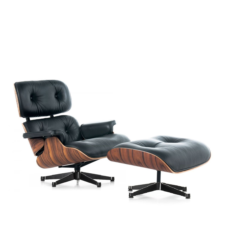 eleganter und hchst komfortabler design stuhl ein design klassiker aus palisanderholz und schwarz eames lounge - Eames Lounge Stuhl Abmessungen