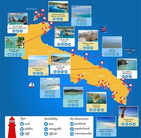 Cartina Puglia Spiagge.Pin Su Progetti Da Provare