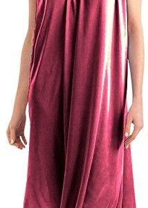 58b72f71c3 EZI Women s Faux Silk and Lace Sleeveless Nightgown