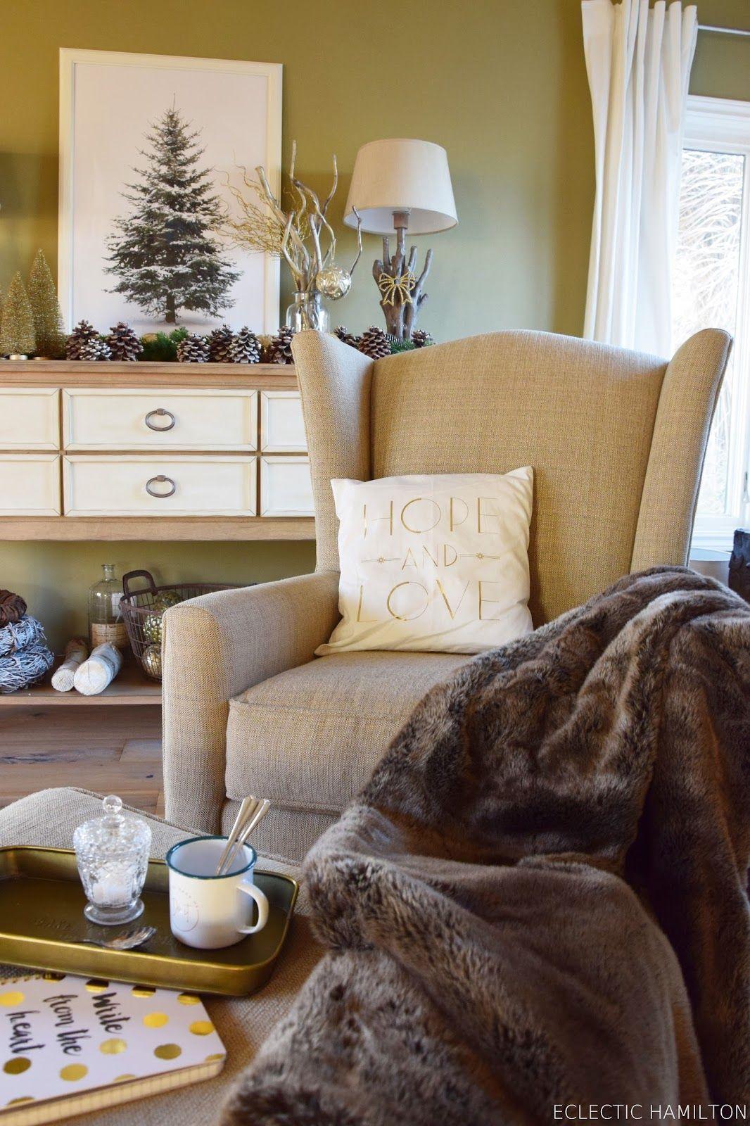 Mein gemütliches Wohnzimmer zur Weihnachtszeit und Deko-Kuschel ...