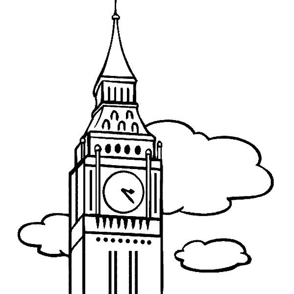 Amazing London Clock Tower Coloring Pages London Clock Tower