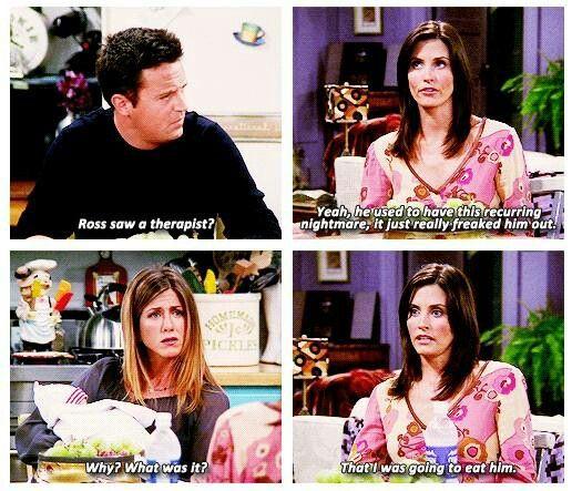 When Monica was fat