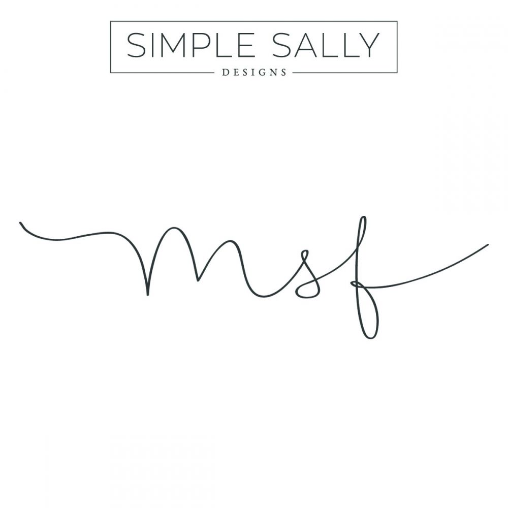 Tattoo Designs With Letter M: Initials Tattoo MSF By Simple Sally Designs