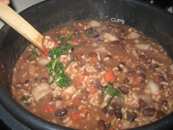 Black Bean Stew with Kale