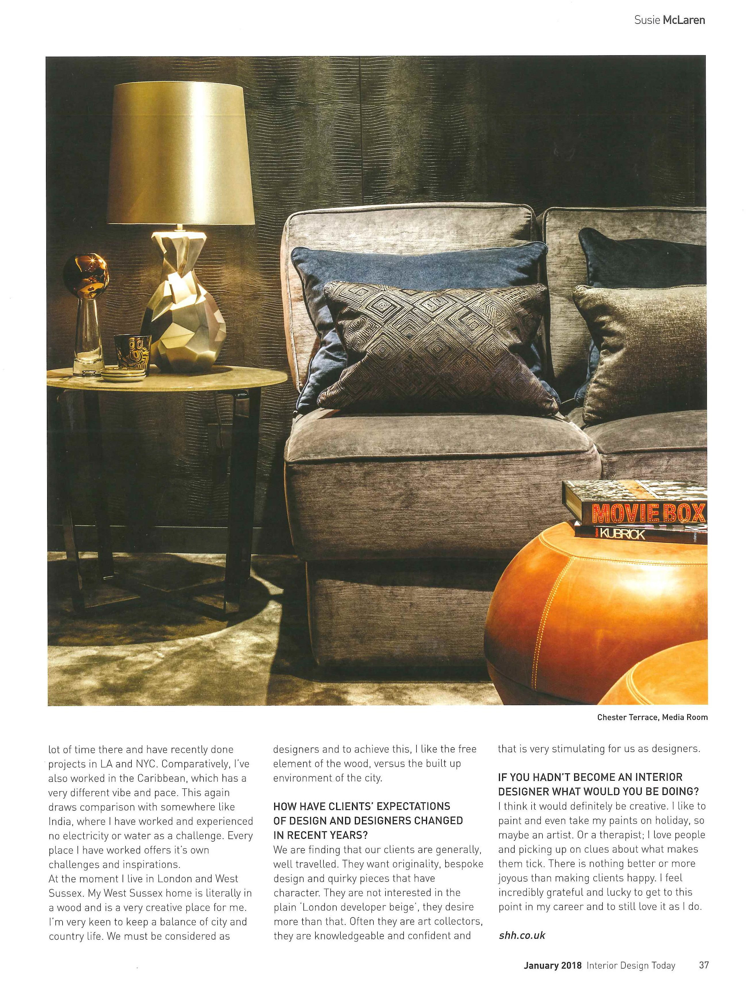 Faceted Lamp By Porta Romana Interior Shh In Design Today January 2018