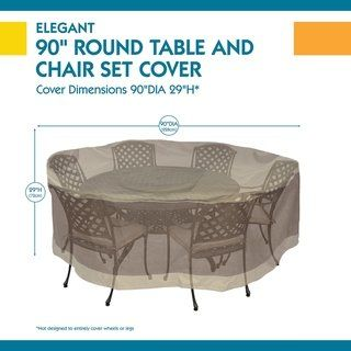 Duck Covers Elegant Round Patio Table With Chairs Cover Set