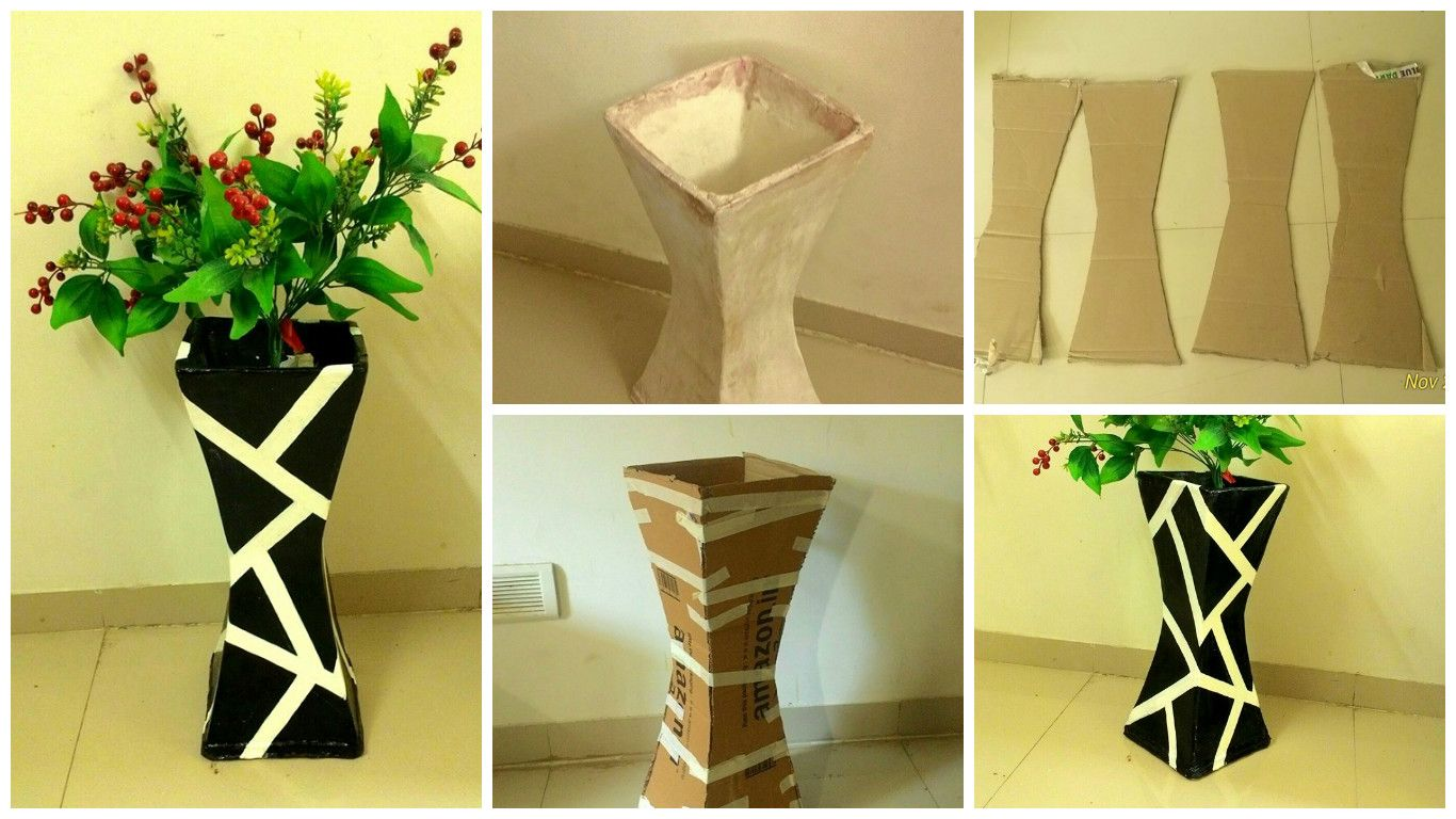 How to make vase from cardboard craft cardboard crafts and how to make vase from cardboard reviewsmspy