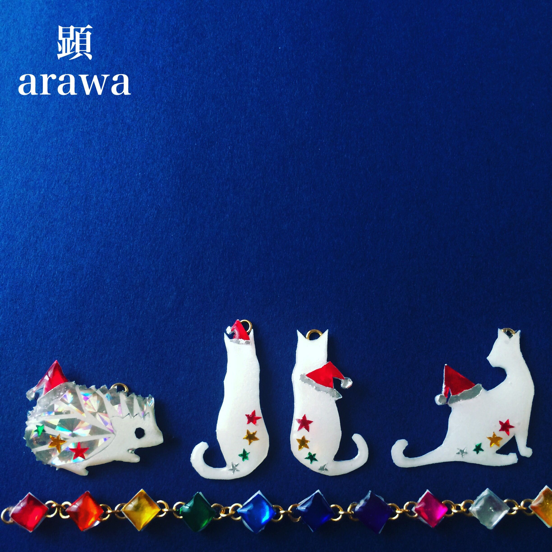 #ChristmasCard #Christmas #Card #merrychristmas #HappyHolidays #HappyHoliday #santa #art #japan #japaneseartist #accessories #handmade  #originalart #artwork #happy #animal #ハリネズミ #hedgehog  #ネコ #cat
