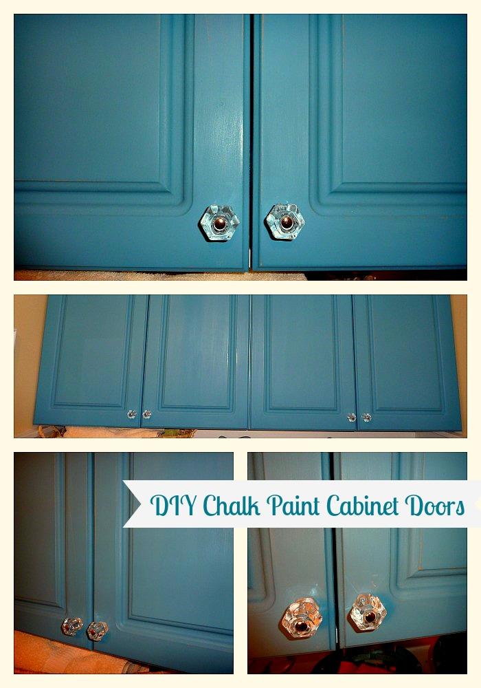 DIY Chalk Paint Cabinet Doors Closeups   Tutorial At Www.thehappyhousie.com