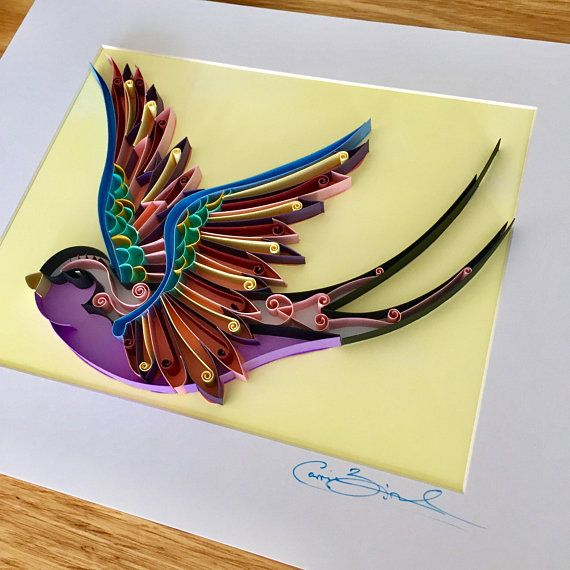 Unique Handmade Paper Art / Quilling Artwork / Bird Artwork ...