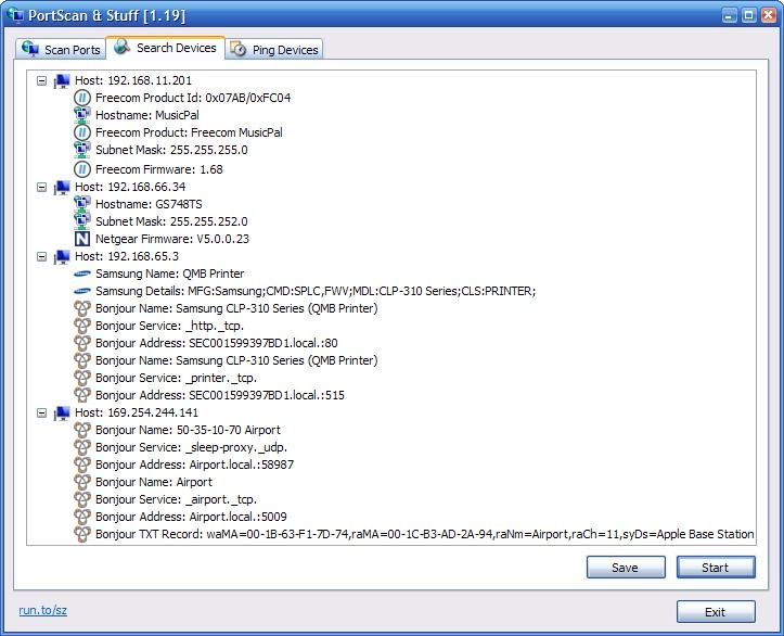 SZ PortScan 1.42 (Click image to go to our download page