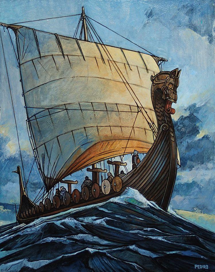 viking ship art | Tumblr