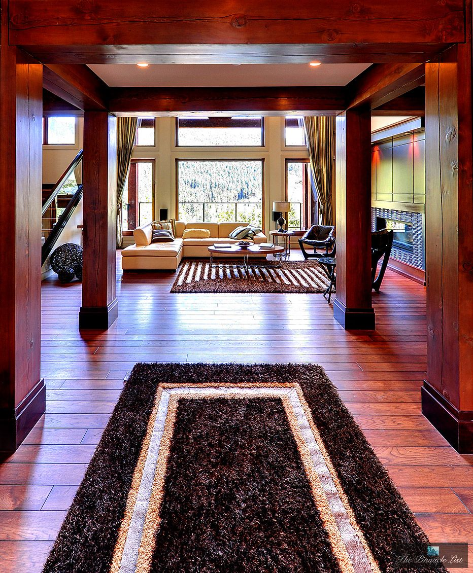All wood interior from a home in Anmore BC.