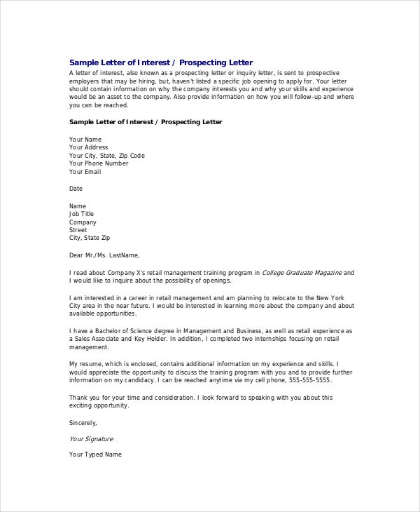 Formal Letter Template Free Sample Example Format Proper Basic Job