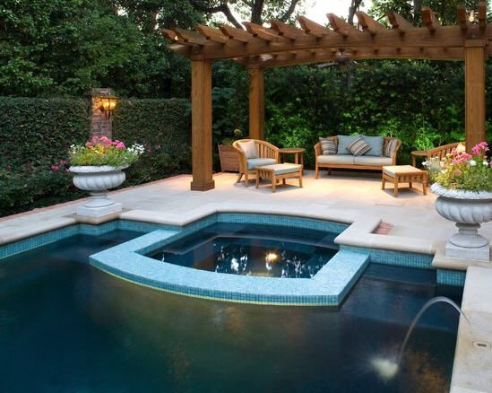Pool Gazebo Ideas swimming pool with pergola as dining area stunning gazebo and swimming pool design in modern home Beautiful Landscape Design Of Pool Pergola To Enjoy With Sunbath