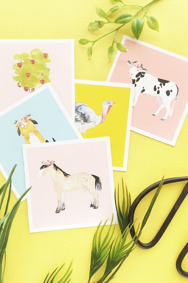 DIY Farm Animal Flash Cards on Maritza Lisa - create your own whimsical double sided flash cards with this DIY and Crafts tutorial!