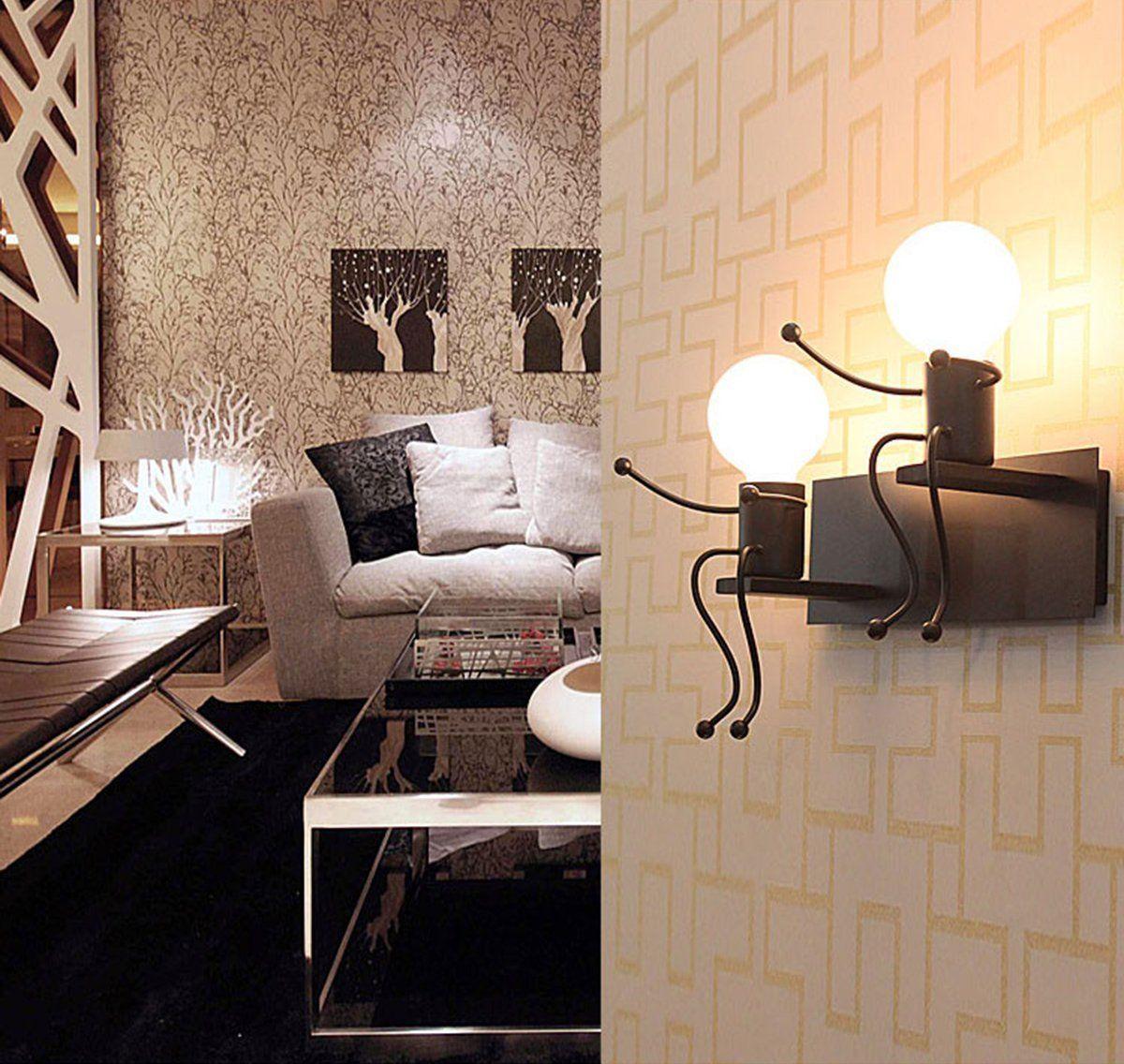 Lampada da parete E27 Applique da parete interni Design ...