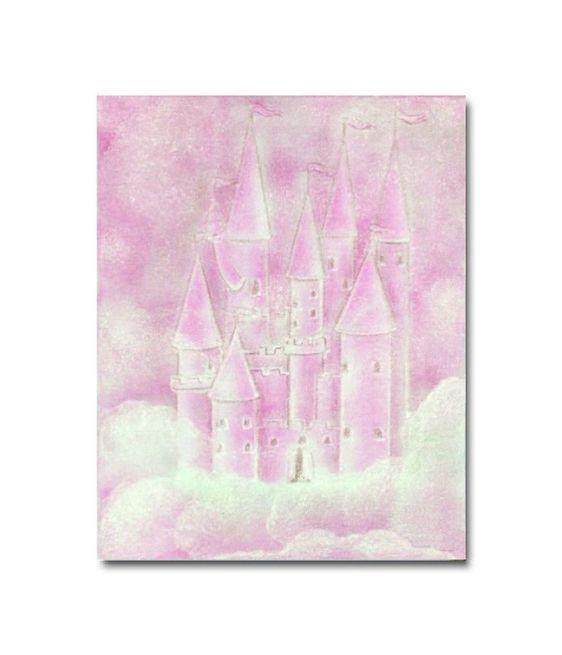 pink nursery decor princess wall art set of 4 art by handpainting