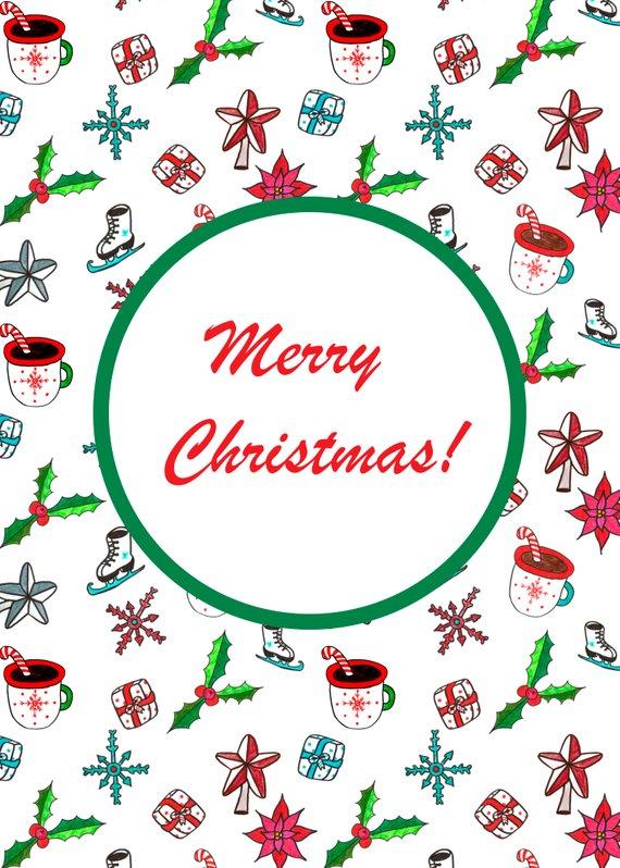 Christmas Card Printable 5x7 Christmas Cards Template ...