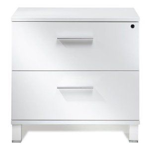 Amazon Com Modern Two Drawer Lateral File Cabinet White Lacquer