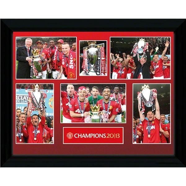 Daley Blind Wallpaper: Manchester United 2013 Champions Framed Poster