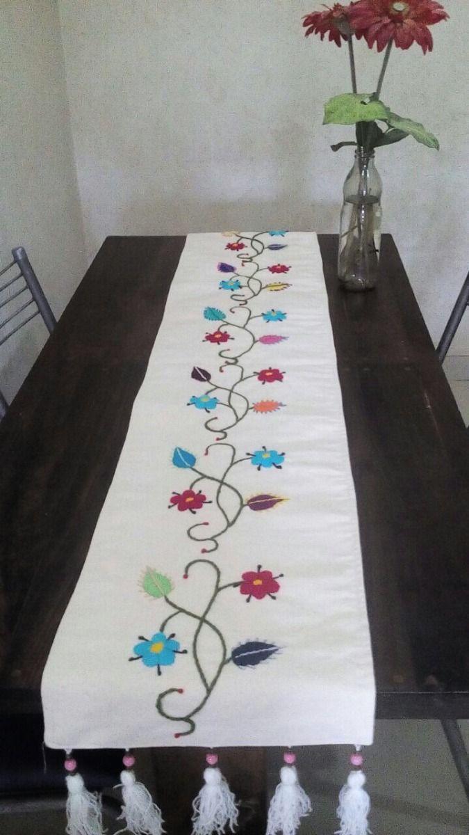 Resultado de imagen para caminos de mesa bordados a mano | Bordado ...