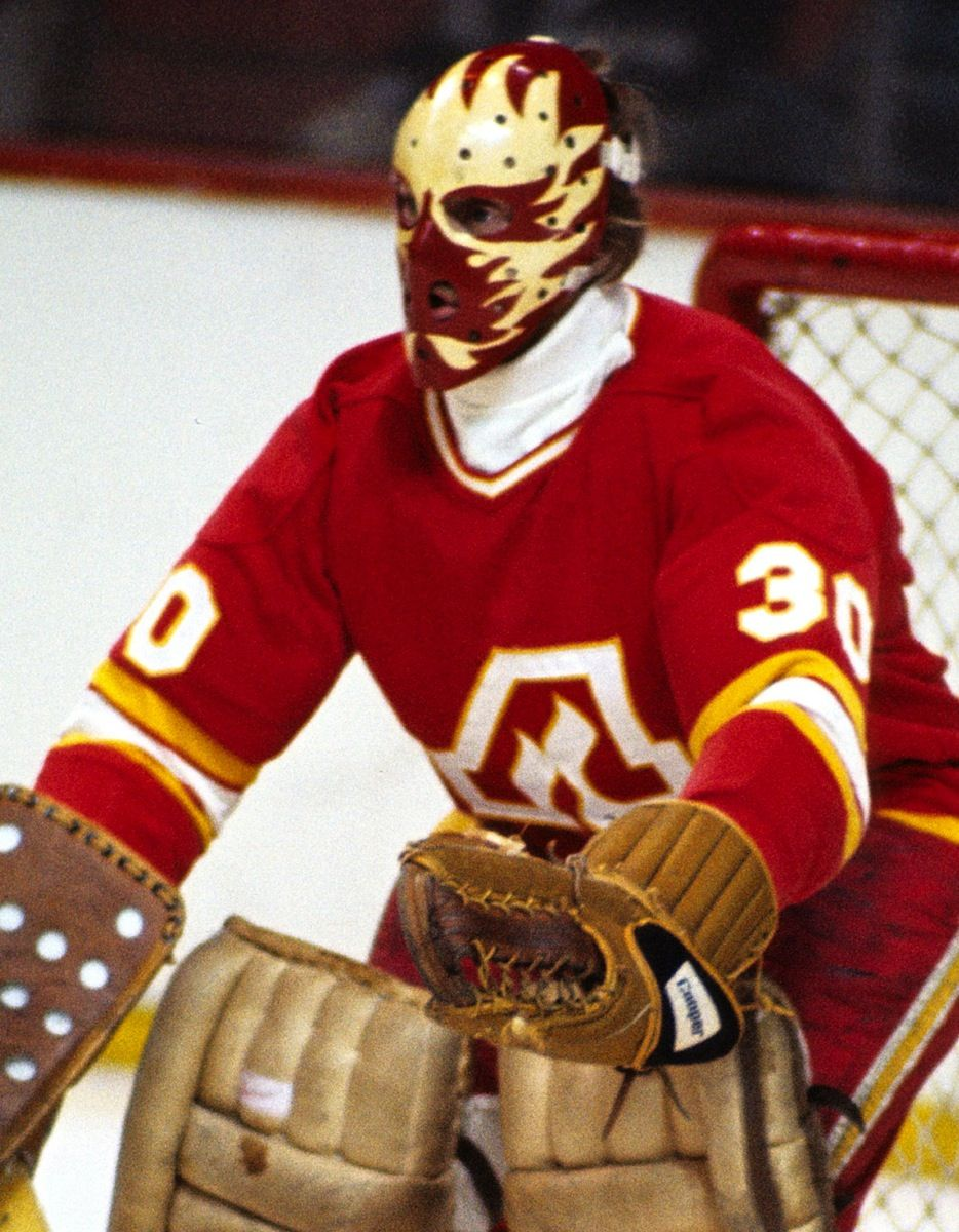 Dan Bouchard my old hockey coach Goalie mask, Hockey