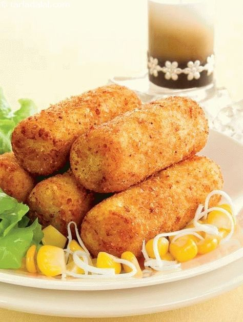Paneer and corn croquettes recipe croquettes recipe recipes and meals paneer and corn croquettes recipe by tarla dalal forumfinder Images