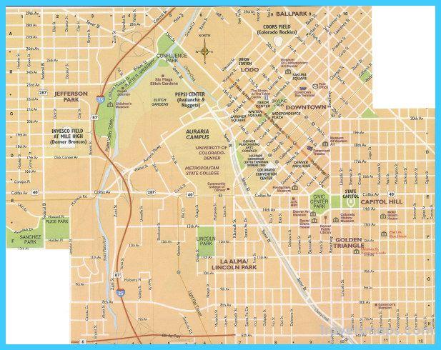 nice Map of Denver Colorado Travelsmaps Pinterest Denver and