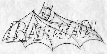 Easy Drawings Batman Chris Also Included His Logo Sketch There