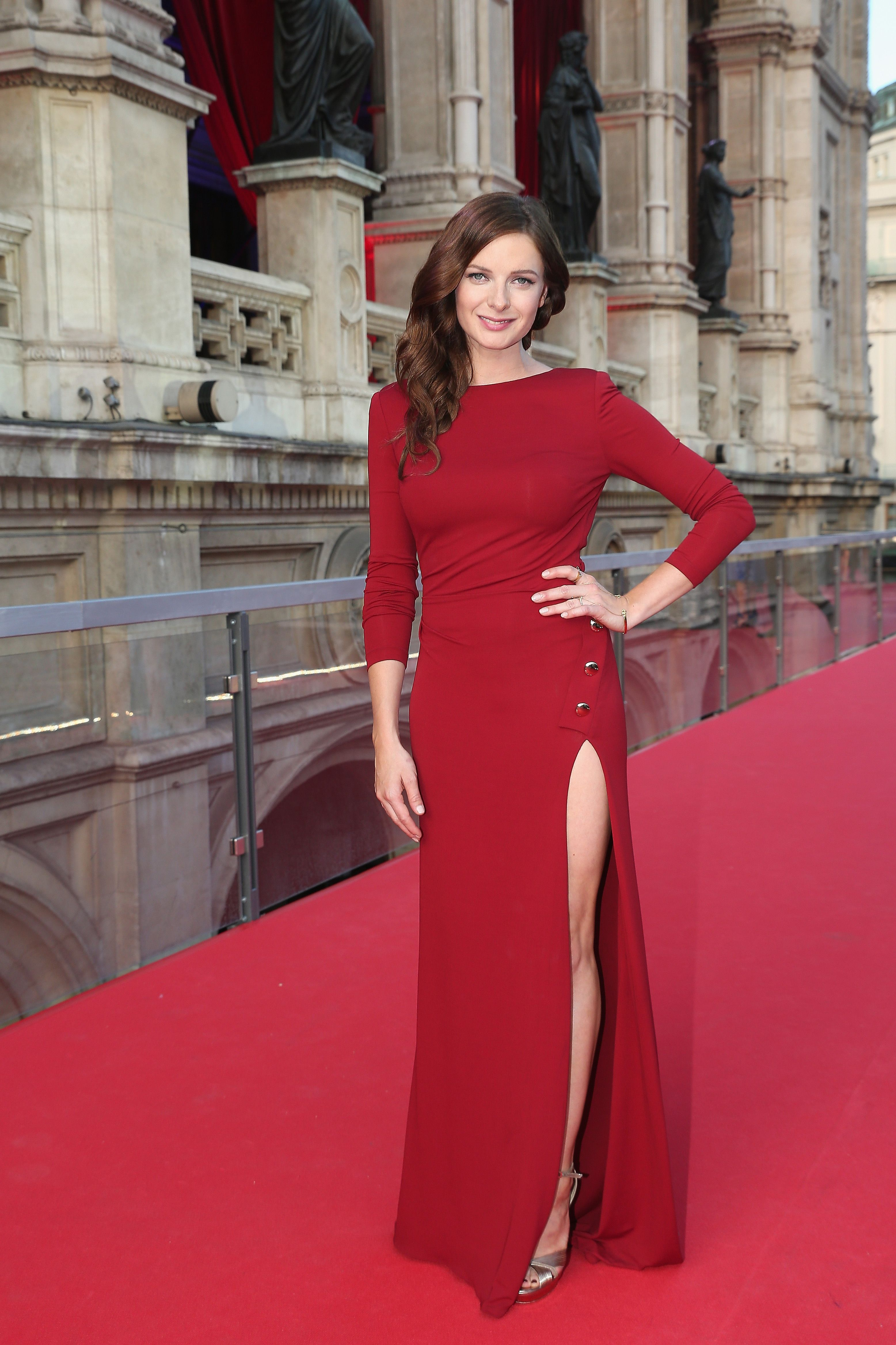 fa6aab054b1 Rebecca Ferguson wears ELIE SAAB Ready-to-Wear Autumn Winter 2015-16 to the  world premiere of  Mission  Impossible - Rogue Nation  in Vienna