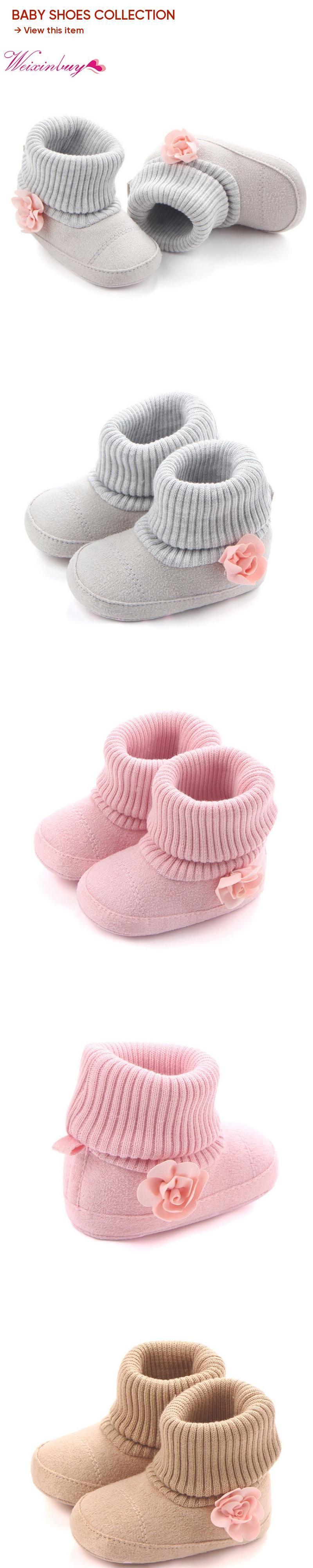 c94ec2679 Winter Warm Baby Shoes Autumn Crib Pram First Walkers Kids Newborn ...