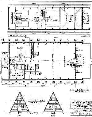 Cabin Plan And Blueprint 5965 A Frame Cabin Plan Download Package A Frame Cabin A Frame Cabin Plans Cabin Plans