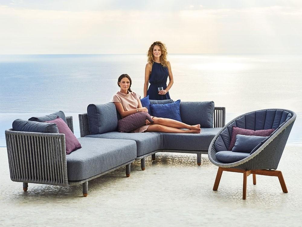 Cane Line Moment Outdoor Corner Module Sofa In 2020 Outdoor Furniture Design Outdoor Furniture Sets Outdoor Furniture