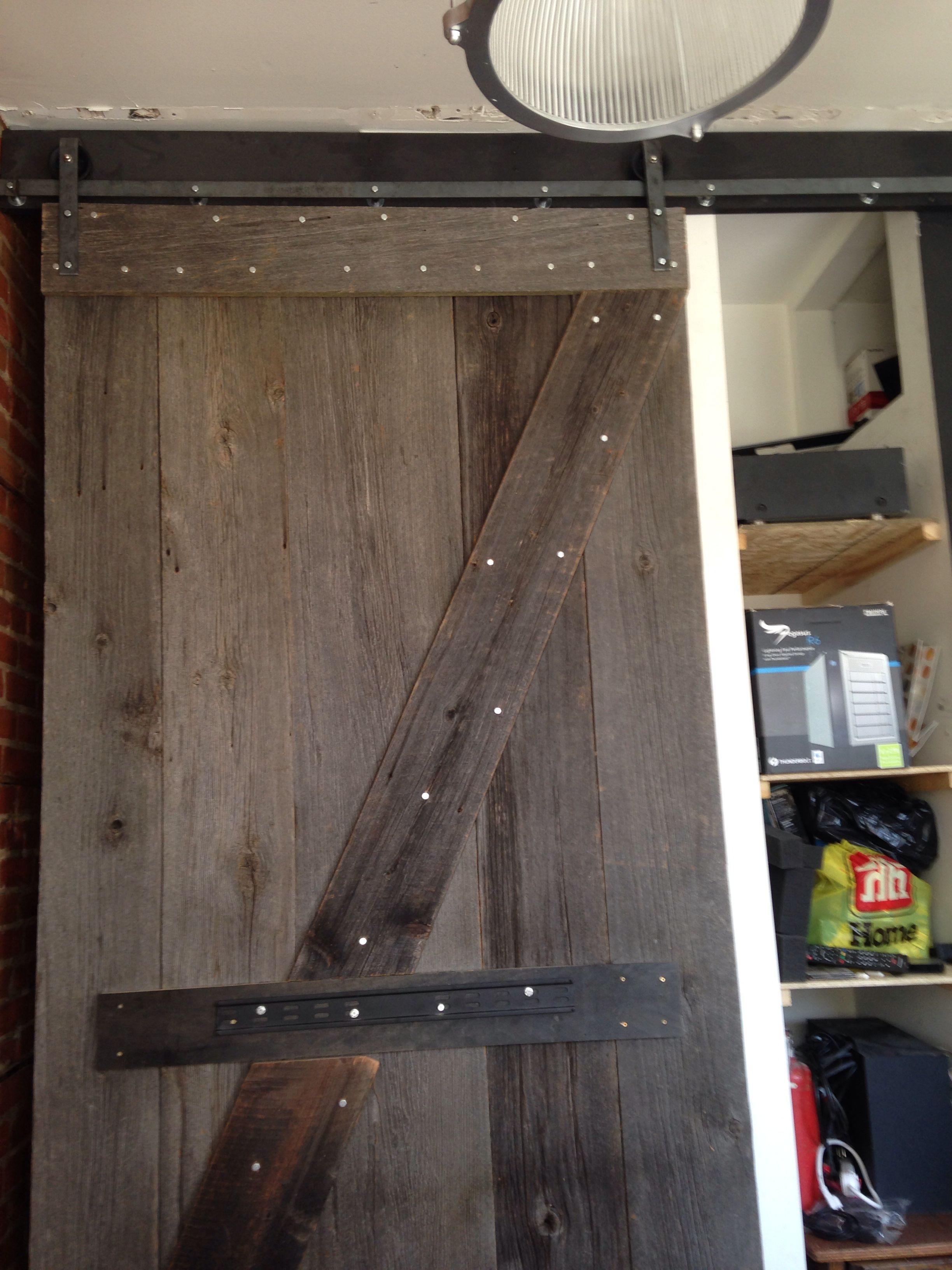 Just finished installing the Barn door for Upstatepost at 785